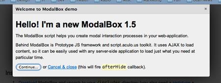 Prototype Lightbox Clone - ModalBox